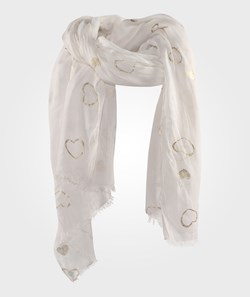 United Colors of Benetton Scarf With Heart Design White