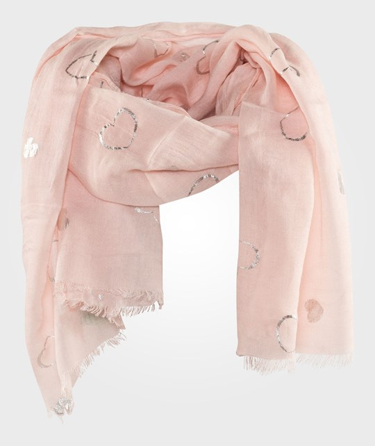 United Colors of Benetton Scarf With Heart Design Pink Pink