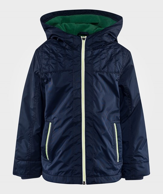United Colors of Benetton Zip Up Jacket With Hood Navy  Blue