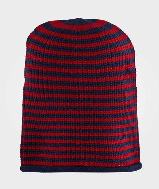 United Colors of Benetton Knitted Hat Blue & Red Multi