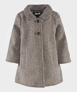 United Colors of Benetton Peter Pan Collar Two Button Coat Beige