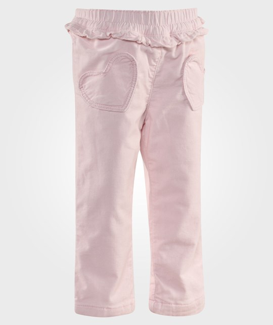 United Colors of Benetton Corduroy Pants With Heart Pockets In Pale Pink Lyserød
