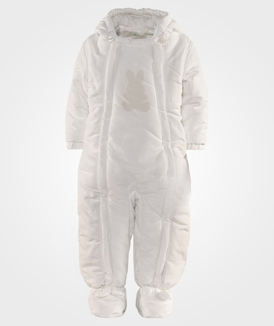 United Colors of Benetton Padded Jumpsuit In Off White White
