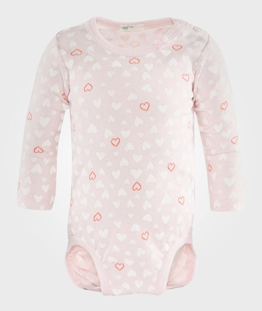United Colors of Benetton 2 Pc Body T-Shirt L/S Pink Lyserød