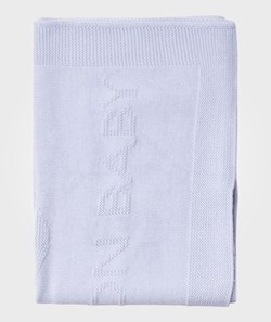 United Colors of Benetton Knitted Basic Benetton Baby Blanket With Bunny Motive Pale Blue