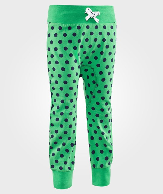 Geggamoja Pants Dots Green/Blue Green