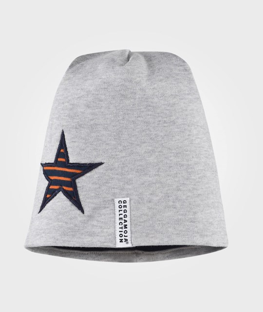 Geggamoja Star Cap Fleece Grey Melange Grå