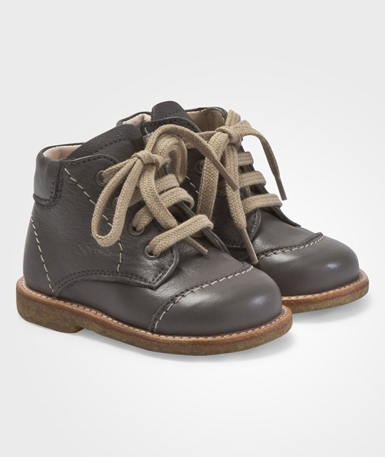 Angulus Flat Boots With Laces Dusty Greyish Green Green