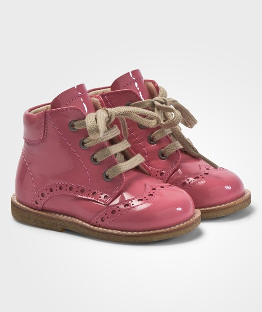 Angulus Flat Shoes With Laces Bubblegum Rosa