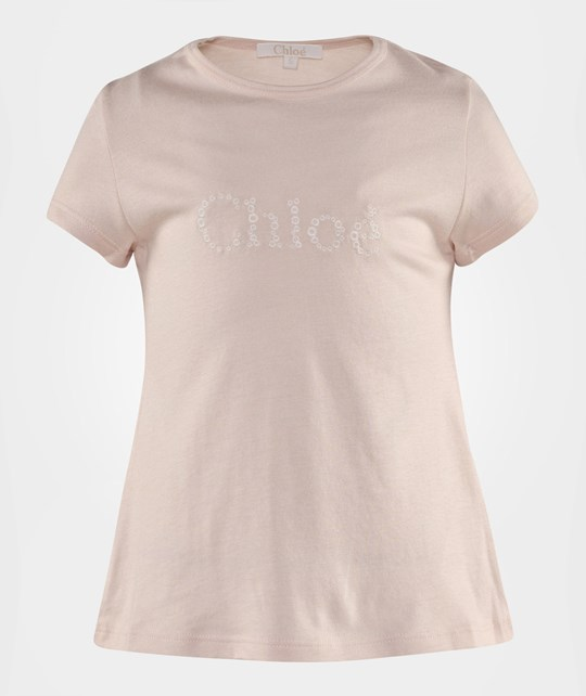 Chloé Short Sleeves Tee-Shirt Pale Pink Rosa