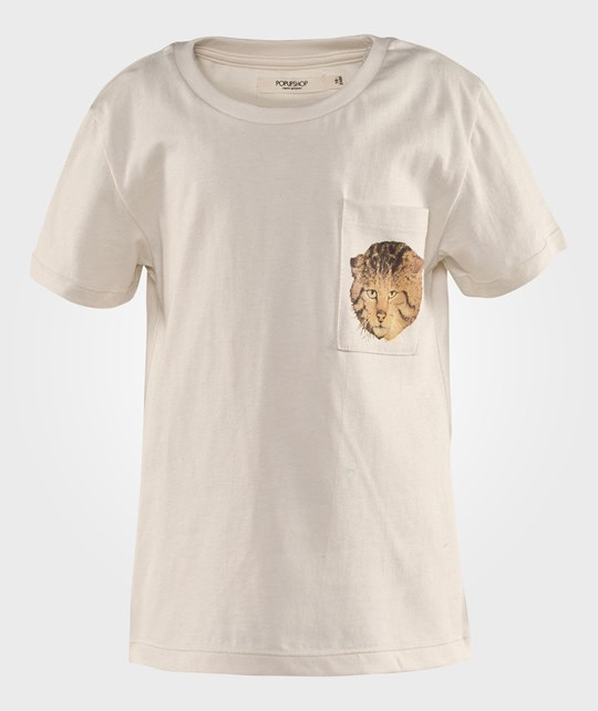 Popupshop Loose Tee With Cat Pocket  White