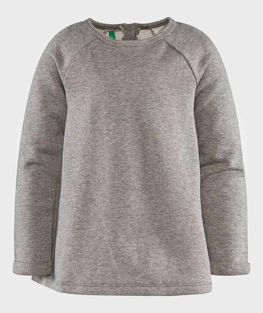 United Colors of Benetton Crew Neck A-Line Sweater Grey Melange Grey