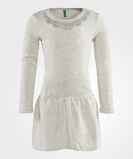 United Colors of Benetton Sparkle Sweater Dress In Grey Grå
