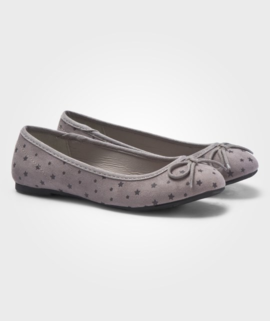 United Colors of Benetton Pumps With Star Design And Bows On The Fronts Grey Harmaa