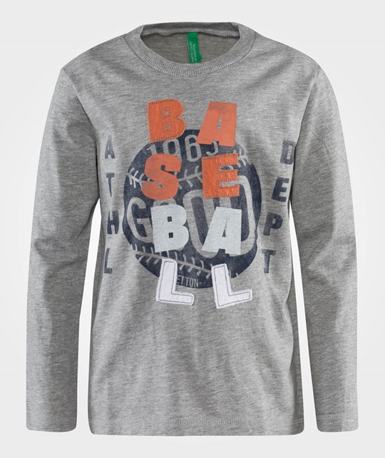 United Colors of Benetton L/S T-Shirt Sporty Detail On The Front Grey Grey