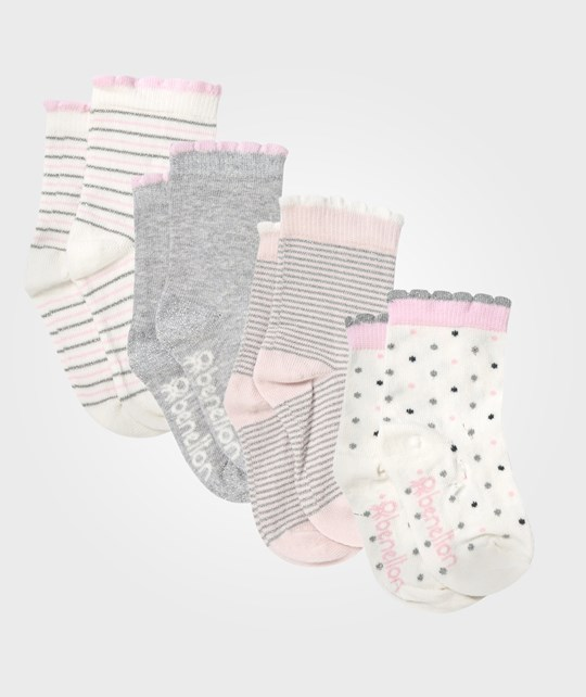 United Colors of Benetton 5 Pack Multi Coloured Socks Pink Rosa