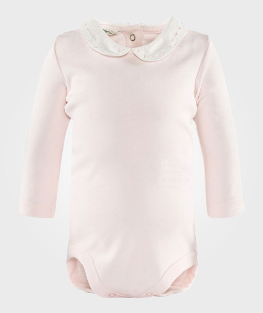 United Colors of Benetton L/S Body T-Shirt With Colar Pale Pink Pink
