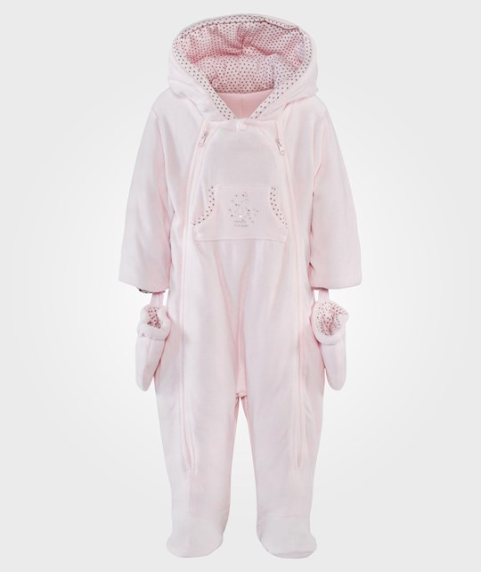 Absorba Velour Coverall Peach Peach