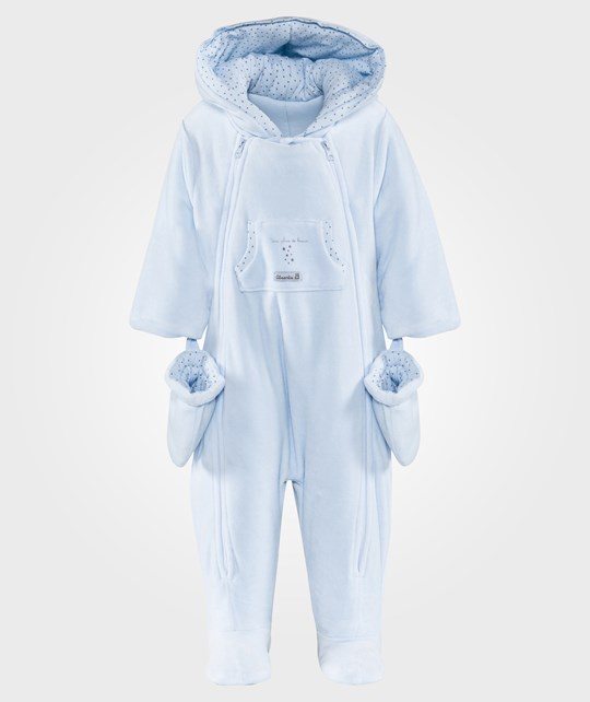 Absorba Velour Coverall Light Blue Light Blue