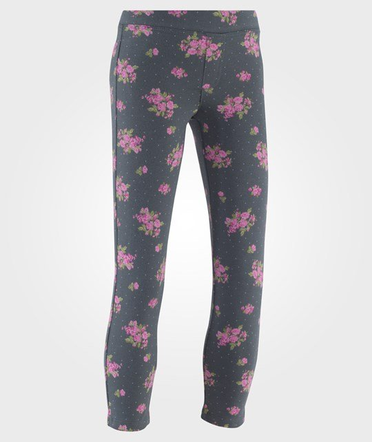 United Colors of Benetton Леггинсы  Floral Design Jeggings Navy голубой