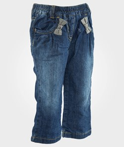 United Colors of Benetton Washed Denim With Bow Detail Blue