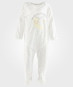 United Colors of Benetton Bodysuit With Opening At The Front And Moon Print  Off White