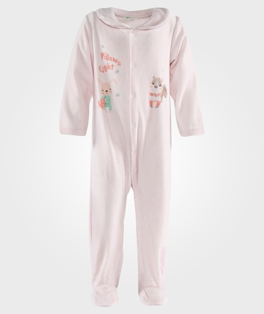 United Colors of Benetton L/S Body Suit With Colar Pale Pink Lyserød