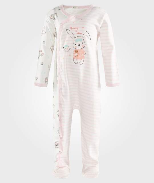 United Colors of Benetton Pyjama Bodysuit With Animal Print In Pink Rosa