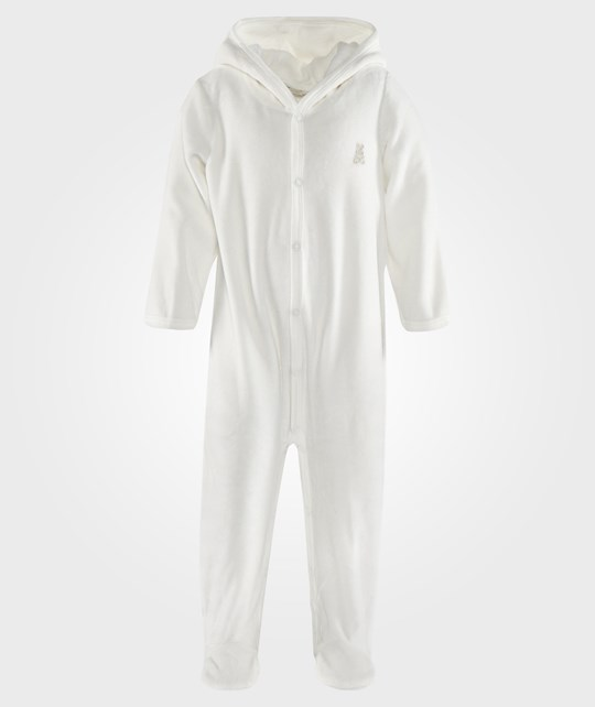 United Colors of Benetton L/S Body Suit With Hood Off White White