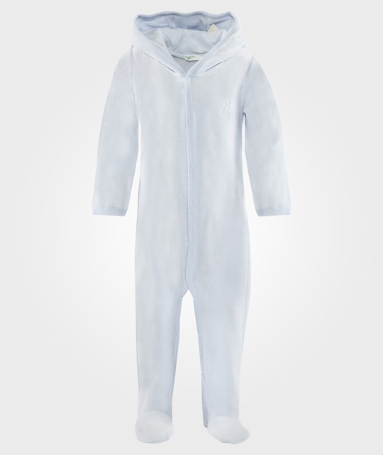 United Colors of Benetton L/S Body Suit With Hood Pale Blue Blå