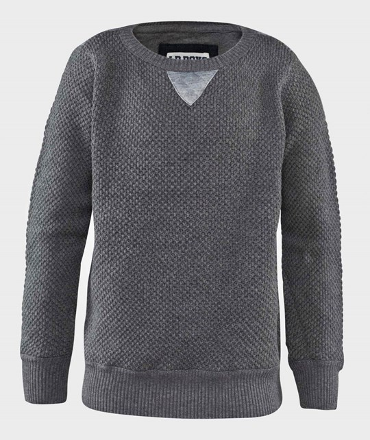 Little Pieces Лонгслив  Lproy Sweat Dark Grey Melange серый