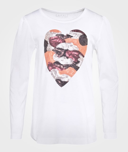 Esprit Heart Ts Off White White