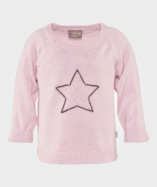 Hust&Claire Cardigan Baby Wrap Star Rosé Rosa