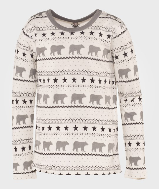 Hust&Claire Polar Bear Tee in Off White Hvid