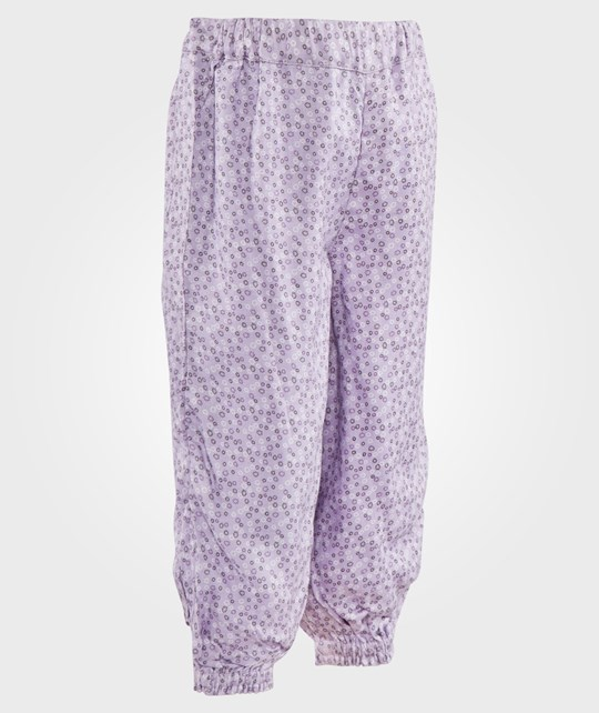 Hust&Claire Trousers Floral Pastel Lilac Lila