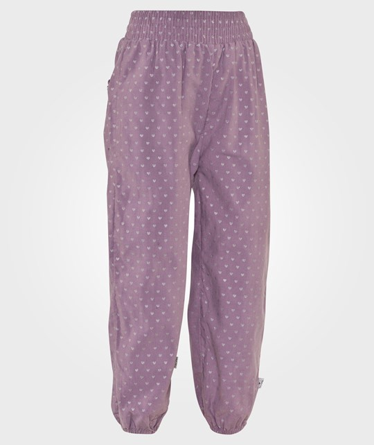 Hust&Claire Trousers Corduroy Purple Dust Lila