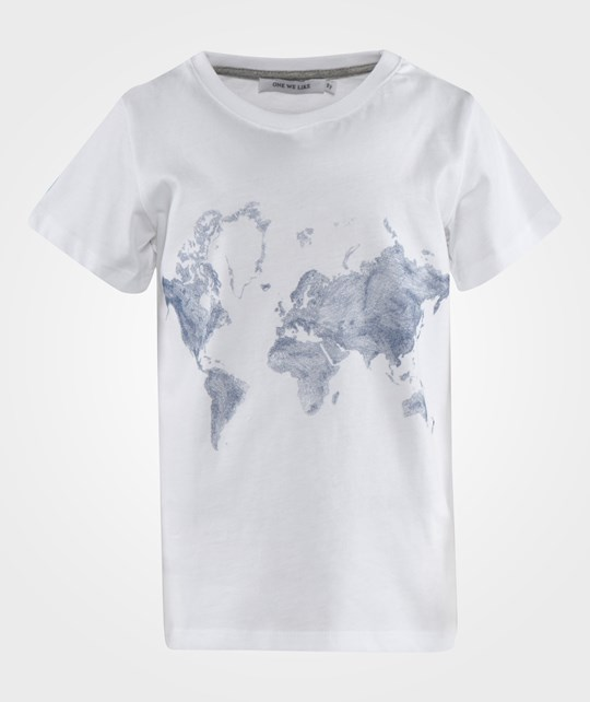 One We Like One SS T-shirt Map White White