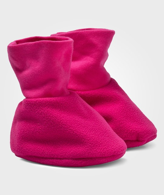 Geggamoja Wind Fleece Footie Cerise Pink