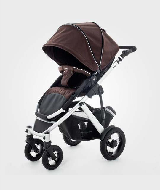 BRIO Smile Stroller Black/Brown Ruskea
