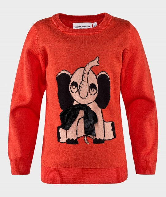 Mini Rodini Elephant Sweater Red Red