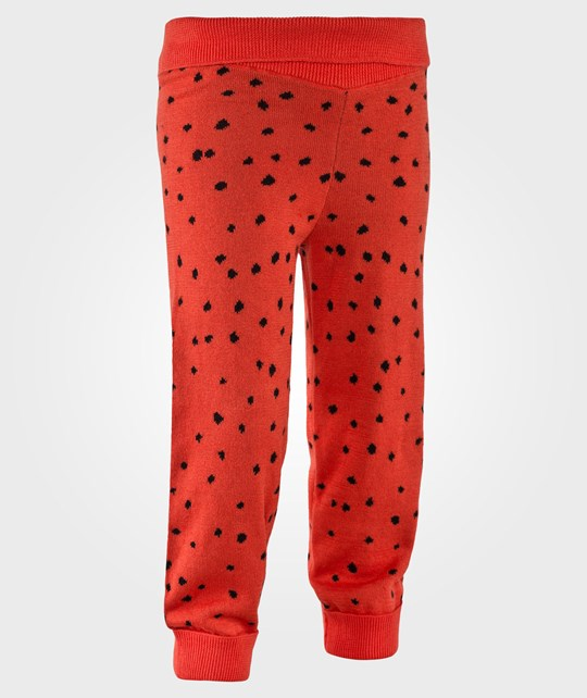 Mini Rodini Knitted Leggings Red Red