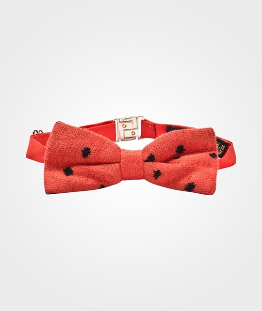 Mini Rodini Knitted Bow Tie Red Rød