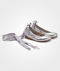 DOLLY by Le Petit Tom Ballerina Silver Leather Silver