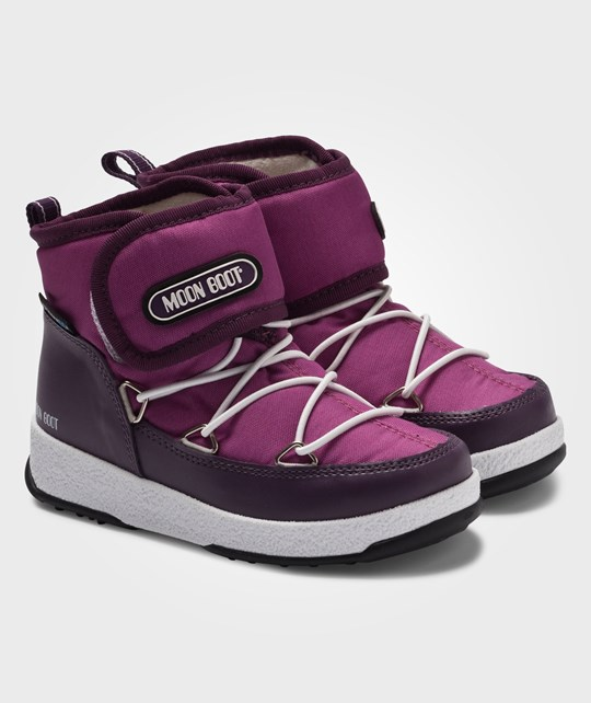 Moon Boot Сапоги Moon Boot W.E. Jr Strap Wp Violet-Orchid розовый
