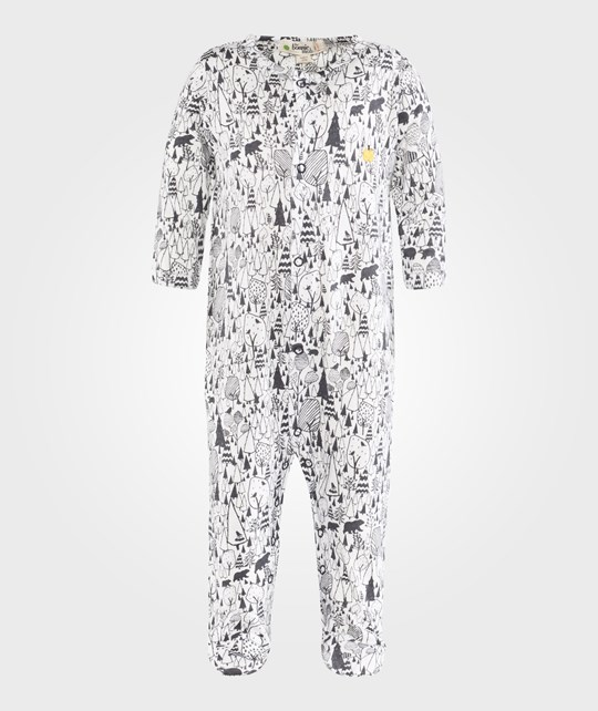The Bonnie Mob Sleepsuit Monochrome Woodland Black
