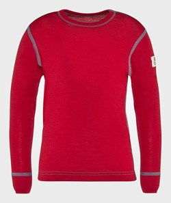 Janus Wool LS Tee Red