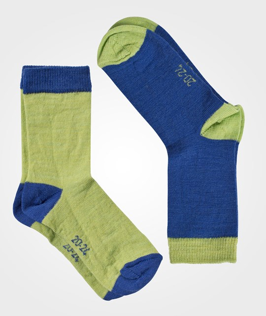 Janus Wool Socks 2-pack Blue Blue