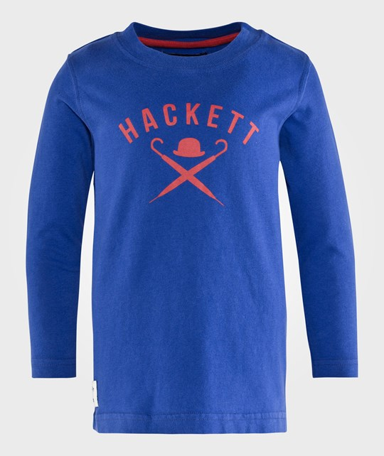 Hackett Logo Tee in Bright Blue         Bright Blue