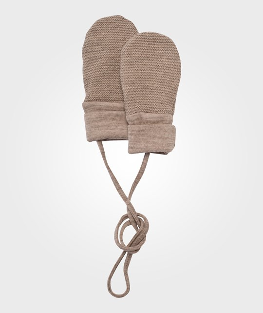 Joha Mittens W.Out Thumbs Wool Beige