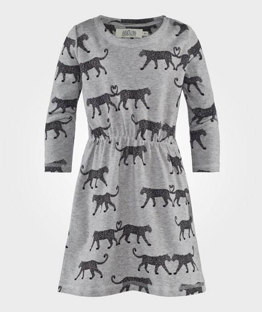 Anïve For The Minors Long Sleeve Dress Leo Gråmelange